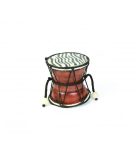 Animal print drum instrument