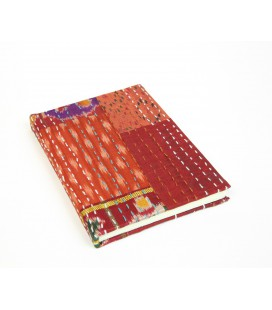 Libreta patchwork mediana roja