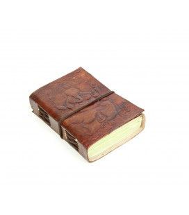 Mini leather Ganesh notebook