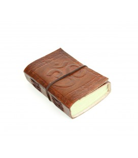 Mini leather om notebook