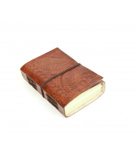 Mini leather valance notebook