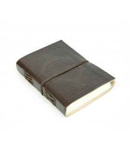 Medium leather mandala notebook