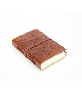 Small leather Celtic notebook