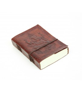 Small leather Ganesh notebook