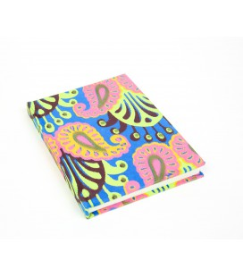 Large hard cover paisley notebook
